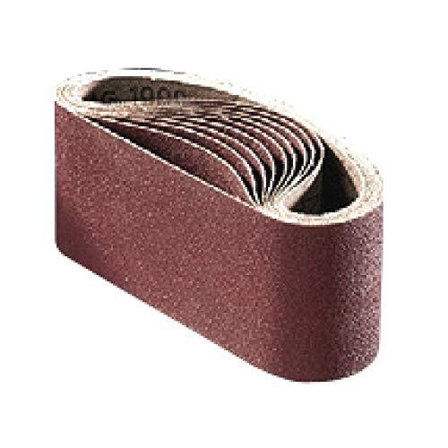 FLEXOVIT Schleifband/Schleifbänder Gewebe | 75x457 mm | 10 Stück | Körnung: 100