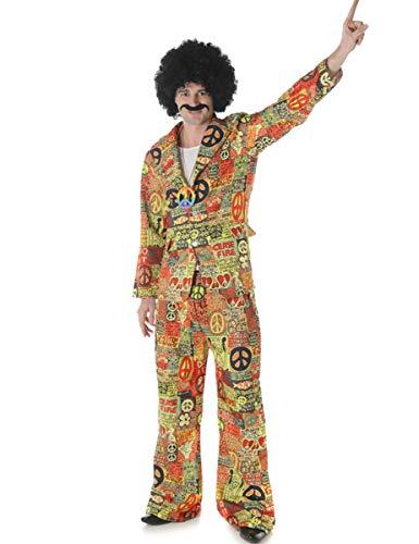 KULTFAKTOR GmbH Hippie-Anzug 60er und 70er Jahre Kostüm bunt M