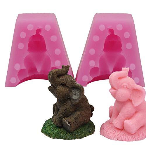 Shakala Silikonform Für Kuchen Fondant Schokoladenherstellung, 3D Elefant Seifenform Handwerk DIY Backenwerkzeuge