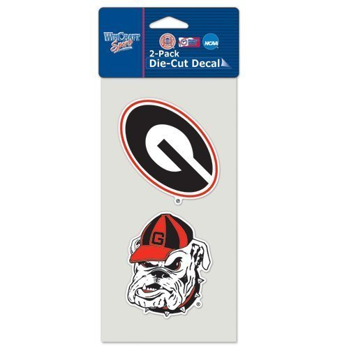 WinCraft Georgia Bulldogs Auto Decals 2 Pack - 4' by 4' Each