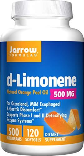 Jarrow Formulas D-Limonene Lot de 60 gélules souples Protège l'esophage 1000 mg