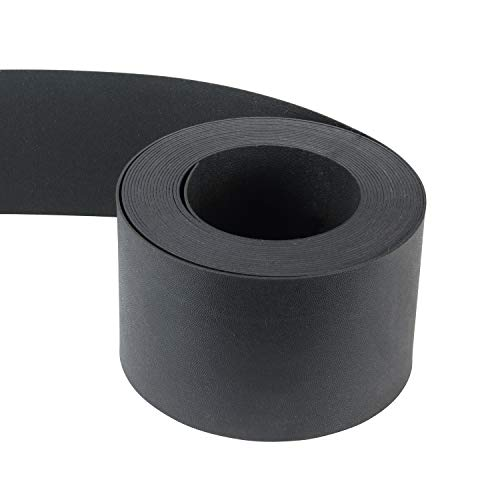 Hochwertige Rasenkante Rolle Kunststoff -99661- als Beeteinfassung, Beetumrandung oder Wegbegrenzung in schwarz L: 10 m, H: 12 cm Stärke: 2mm biegsam & flexibel in der Form