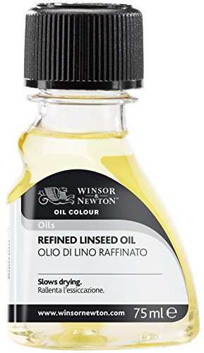 Winsor and Newton Oil Colour Refined Linseed Oil 75ml (Bttl)