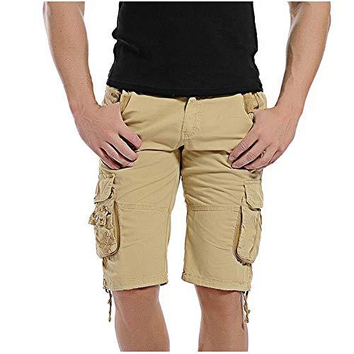 Pantalones Cortos Deportivos Nuevos Pantalones Cortos Casuales De Verano para Hombre, Pantalones Cortos De Camuflaje Ajustados De Algodón para Hombre, Bermuda Masculina 36 Caq
