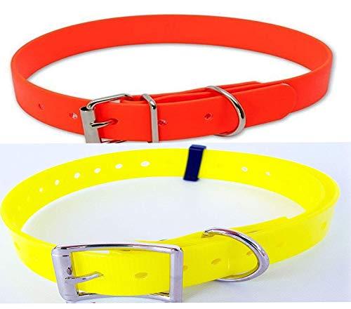 viridia Collare per Cane da Caccia Fluo - Fluorescente Materiale plastico accurato ad Alta Resistenza e Alta visibilità Disponibile in 2 Misure