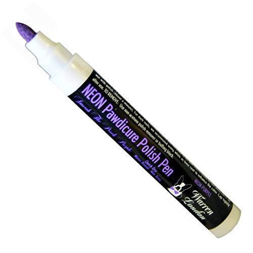 Warren London - Pawdicure Polish Pen, Non-Toxic and Fast Drying Dog Nail Polish - Neon Purple