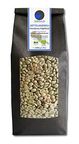 Bio Rohkaffee - Grüner Hochland Kaffee Honduras Highland (grüne Kaffeebohnen 1000g)