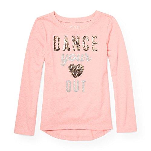 The Children's Place Big Girls' Long Sleeve T-Shirt 2, Pink Sea Salt 88024, S (5/6)