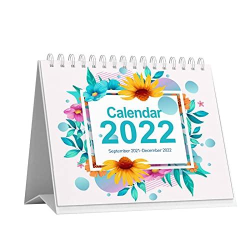 Calendrier De Bureau 2021-2022 - Calendrier De Bureau Pliable Debout, Calendrier De Compte À Rebours Peu Encombrant Avec Reliure Solide À Deux Fils, 2021 Septembre-2022 Décembre Calendrier De Table
