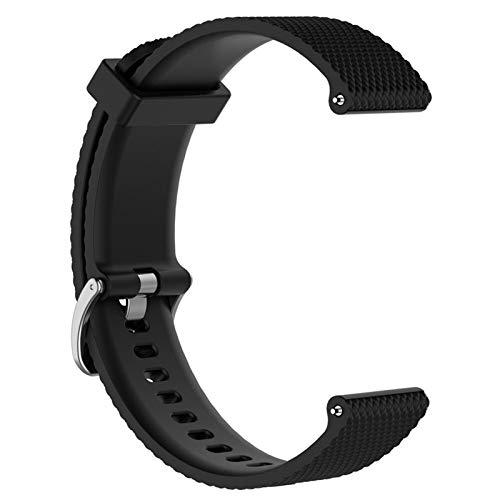 YANODA Bracelet Bracelet for Polar Vantage M Smartwatch Band Bracelet Bracelet De Sangles De Rechange Accessoires Silicone Souple Bande Unisexe Adjustable (Color : Black)