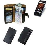 K-S-Trade® Schutzhüll Für Allview X4 Soul Mini S Schutz Hülle Portemonnaie Case Phone Cover Slim Klapphülle Handytasche E Handyhülle Schwarz Aus Kunstleder (1 STK)