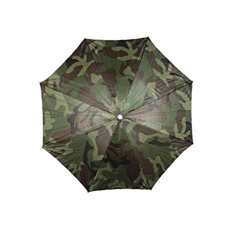 Paraguas Plegable Cabeza Sombreros Paraguas Sombrero Correa para La Pesca Que Acampa Al Aire Libre Senderismo Deportes Camuflaje