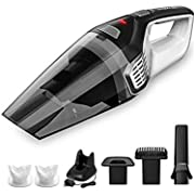 Homasy Portable Handheld Vacuum Cleaner Cordless, 8000Pa Powerful Cyclonic Suction Vacuum Cleaner, 14.8V Lithium with Quick Charge Tech, Wet Dry Lightweight Hand Vac