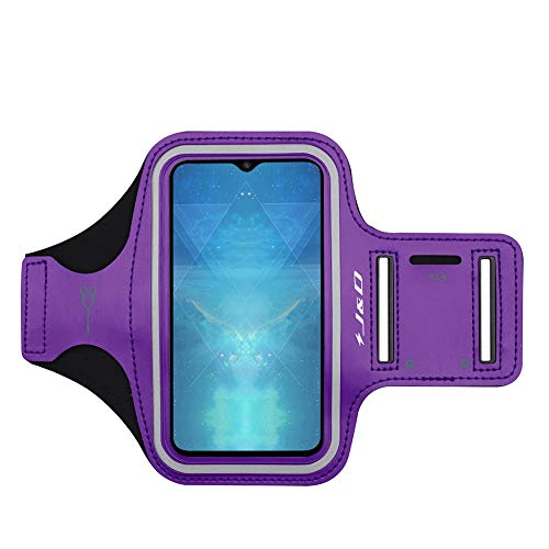 JD Compatibile per OnePlus 7 / OnePlus 6T / OnePlus 6 / OnePlus 5T / OnePlus 5 / OnePlus 3T / OnePlus 3 Fascia da Braccio Sportiva, Bracciale con Portachiavi Slot, Connessione Auricolare Perfetta