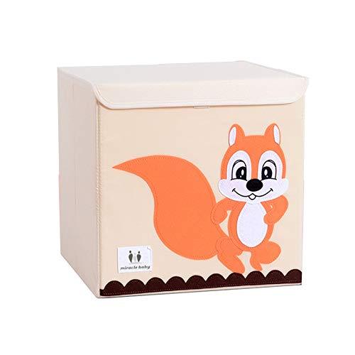 Miracle baby Cajas de Almacenaje Juguetes, Caja Organizadora de Juguetes con Tapa y Asa, Caja Juguetes Almacenaje para Niños