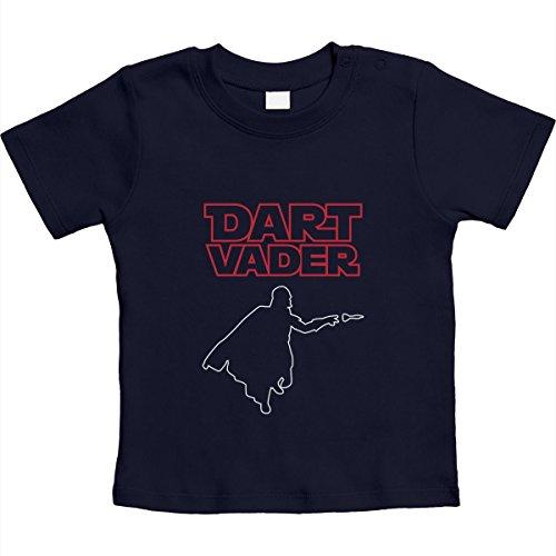 Dart Vader - cool motief voor kleine dartfans unisex baby T-shirt maat 66-93