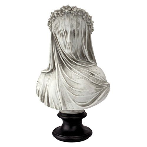 Design Toscano NG31524 The Veiled Maiden Sculptural Bust,white