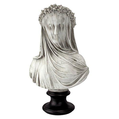 Design Toscano The Veiled Maiden NG31524-Figurín para jardín, Blanco, Standard