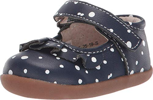 See Kai Run, Belle Mary Jane Shoes for Infants, Navy Snowflakes, 3