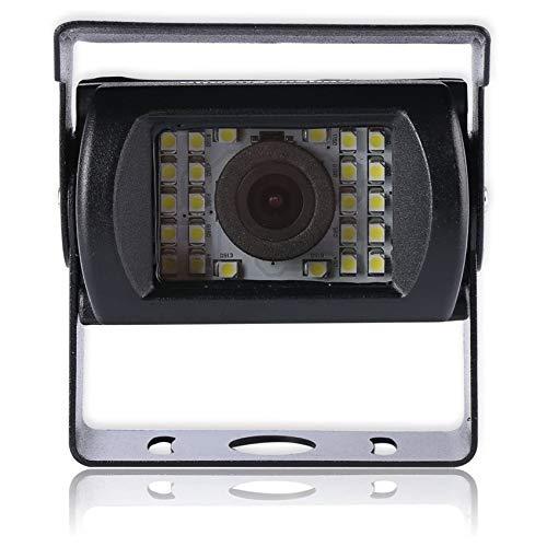 Universelle Nachtsicht-Rückfahrkamera mit Verlängerungskabel | Mehrere Schnittstellen | Mit Referenzlinie (4 Pin | 24 Lampenkugeln)