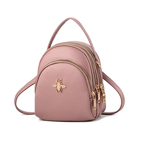Fashion Mini Backpack Purse for Women Girls Cute Shoulder Bags (pink)