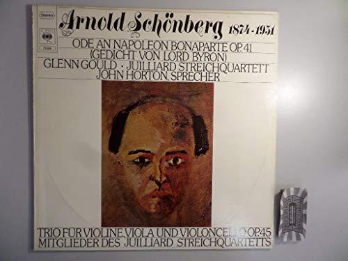 Schönberg: Ode an Napoleon Bonaparte op. 41 (Gedicht von Lord Byron) & Trio op. 45 [Vinyl LP] [Schallplatte]