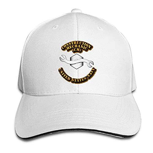 Ahdyr Sombrero Unisex Navy Rate Construction Mechanic Gorras de béisbol Sandwich Caps