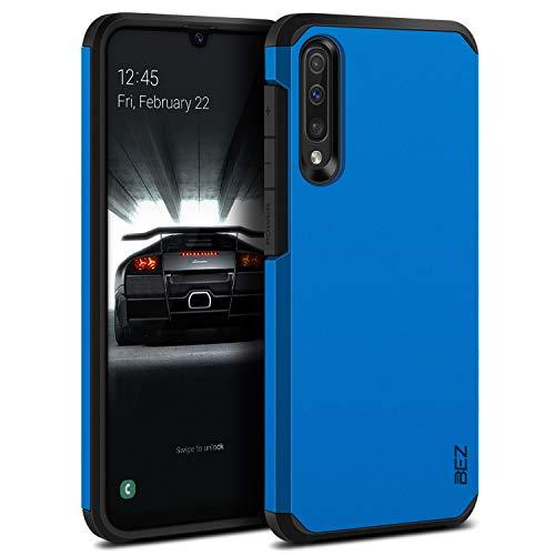 BEZ Funda Samsung A50, Samsung A30s, Carcasa Protectora para Samsung Galaxy A50 / A30s Antideslizante Ultra Híbrida Gota Protección, Cover Anti-Arañazos con Absorción de Choque Resistente, Azul