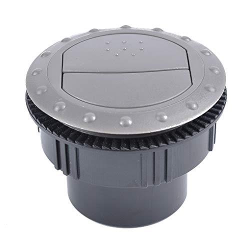 zhibeisai 60mm de ventilación de Salida de Aire giratoria Redonda Interior del Techo del Coche RV ATV A/C Aire Acondicionado Salida de Aire de Salida Tab
