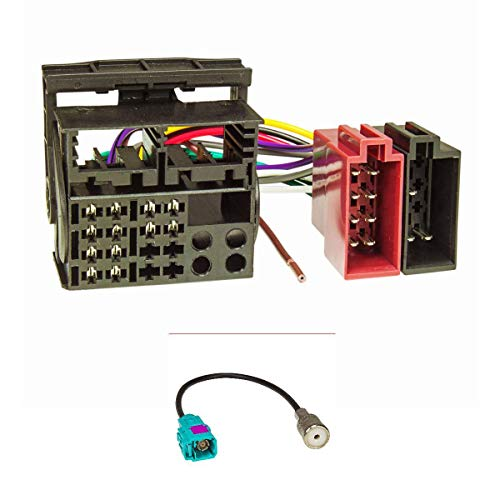 tomzz Audio 7057-008 Radio Anschluss Montage Set kompatibel mit VW Radios mit Quadlockanschluss auf ISO an RCD 200 300 500 310 510