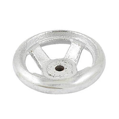 QWXX Lenkrad 69mm x 29mm Runder Metallhandrad Silber Ton für Fräsmaschine Metall Material