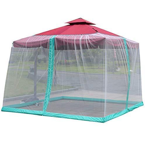 SWEET Moustiquaire extérieure, Couverture de Parapluie moustiquaire Filet de Parasol extérieur Romain Simple Double Fermeture éclair Anti-Moustique Invasion
