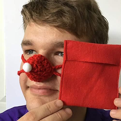 Aunt Marty's Nose Warmers Cappello da Babbo Natale Naso Warmer