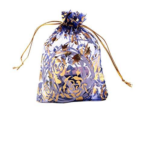 Guangcailun 100PCS Color Mezclado en seco de la Flor Bolsa de Malla de Almacenamiento con cordón de Caramelo Bolsas de Regalo Festival de la Boda del Partido Bolsitas Presente