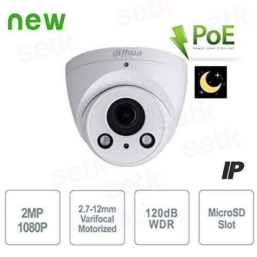 Dahua Technology 1080P Mini Dome gemotoriseerde IP-camera H.265 Starlight PoE - Dahua - IPC-HDW2231R-ZS