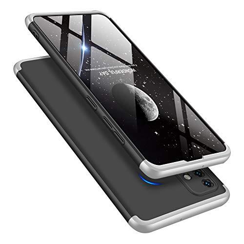 IMEIKONST Étui per Samsung Galaxy S21 Plus, 3 in 1 Matte Duro PC Custodia 360 Gradi Protezione Anti-graffio Bumper Ultra Thin Compatible avec Samsung Galaxy S21 Plus. 3 in 1 Silver AR