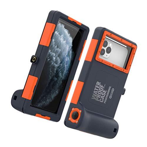 UKCOCO Carcasa de Buceo para Teléfono Compatible con 11Pro MAX/XS MAX/XR/X/ 8/7/ 6S Plus- Funda de Teléfono Universal Impermeable para Buceo/Surfe/Natación/Snorkel/Foto