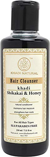 Khadi Natural Ayurvedic Shikakai Honey Hair Cleanser SLS and Paraben Free, 210ml