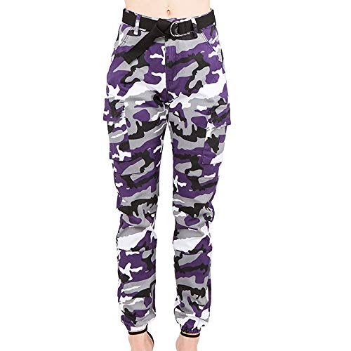 Damen Unterhosen Jogginghose Damen Jeans Hose Damen Thermohose Umstandsjeans(Lila,XXL)