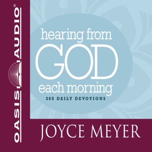 Hearing from God Each Morning                   De :                                                                                                                                 Joyce Meyer                               Lu par :                                                                                                                                 Laural Merlington                      Durée : 12 h et 8 min     Pas de notations     Global 0,0