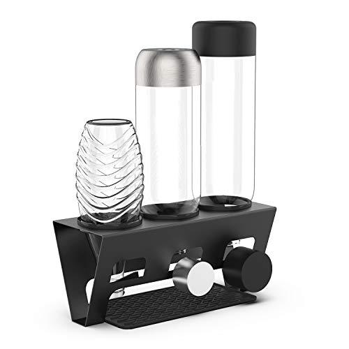 Rainsworth Flaschenhalter für SodaStream, 3er Premium Sodaclean Abtropfhalter für Crystal, Easy, Power, Penguin, Fuse, Emil Flaschen - Flaschentrockner, Abtropfgestell Flaschen