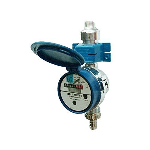 Deltamess 10043 Zapfhahnzähler TKS ZH Funk-V Qn 1,5 - warm Wasserzähler Wasseruhr Hahnzähler