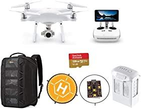$2219 » DJI Phantom 4 Pro+ V2.0 Quadcopter Drone with 5.5-inch FHD Screen Remote Controller - Bundle with 128GB MicroSDXC Card, Lowepro DroneGuard Backpack, Landing Pad, Firehouse ARC White Strobe, Battery