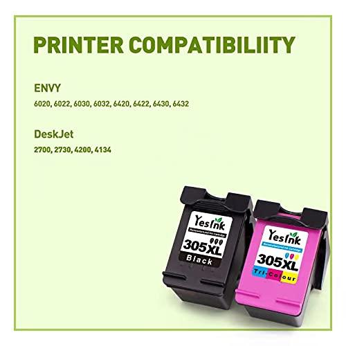 305 XL Repuesto reciclado para Cartucho tinta HP 305 HP 305 XL para impresoras de inyección de tinta HP DeskJet Serie 2700 4200 ENVY Serie 6020 6030(1 negro, 1 Tricromia)