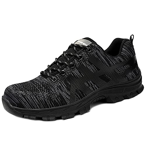 CHNHIRA Chaussures de Sécurité Homme Embout Acier Protection Confortable Léger Respirante Unisexes Chaussures de Travail
