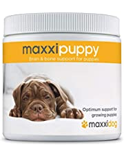maxxidog - Suplemento Cachorros maxxipuppy para Cerebro y Huesos - Le Da a Tu Cachorro el Mejor Comienzo en la Vida - Perros Jóvenes - Ayuda en el Desarrollo en Etapas Tempranas - En Polvo 180g