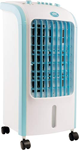 The Prem-I-Air compact Air Cooler is fitted with 3.5L Water Tank and has 3 functions (Low/Mid/High). This portable unit can easily be moved around and is suitable for use in the home or commercial environments such as small offices, shops and workshops.The unit comes supplied with 2 Ice packs.