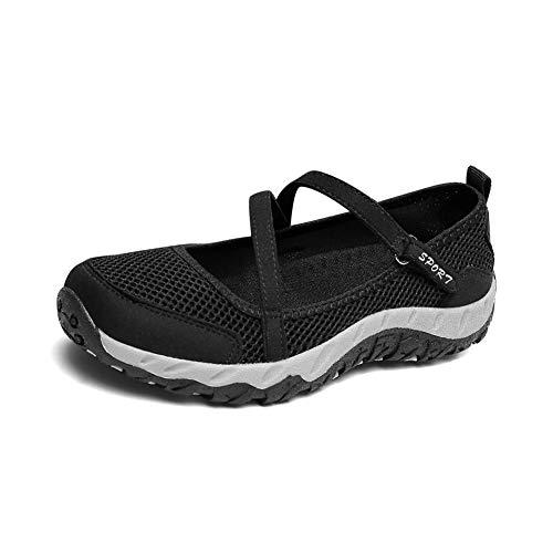 Daytwork Zapatos para Mujer Sandalias Deportivas - Sneaker Ligero Bailarinas Confort Plano Caminando Malla Zapatos de Agua