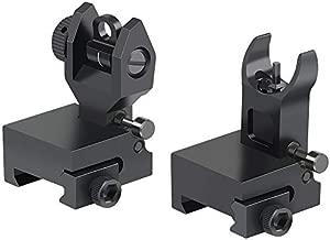 Twod Flip Up Battle Sight Front and Rear Iron Sight Set Dual Aperture BUIS,Low Profile,Black