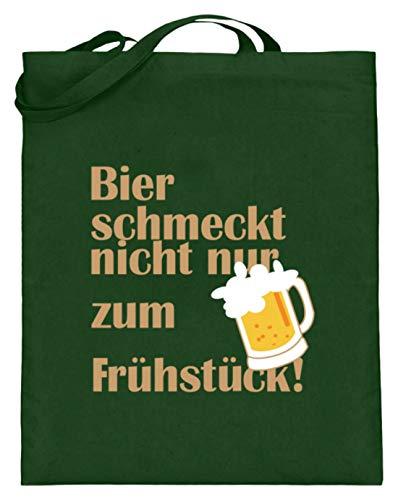 Bier Schmeckt Nicht Nur Zum Frühstück Oktoberfest 2018 München Bayern Weißwurst Brezn - Jutebeutel (mit langen Henkeln)